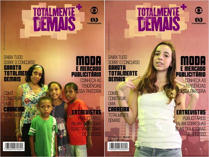 Público do Portal Shopping entrou no clima da novela e saiu na capa. (Foto: TV Anhanguera)