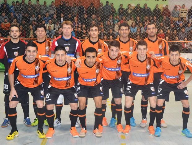 Carlos Barbosa futsal equipe (Foto: Genaro Caetano/Divulgação)