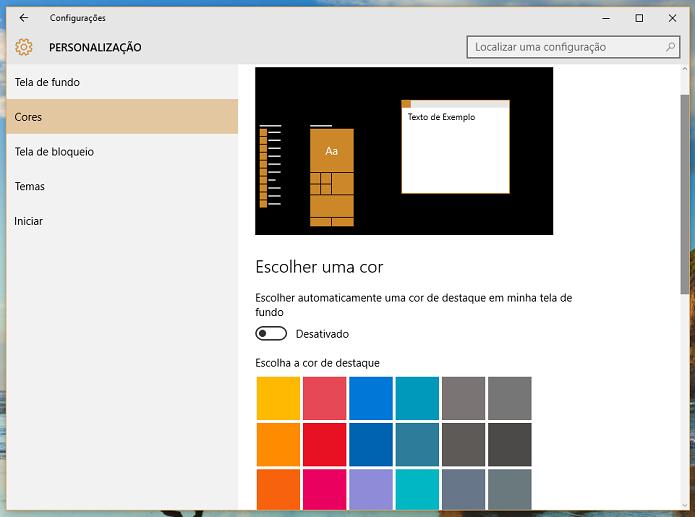 Desative a cor automática e escolha a sua favorita (Foto: Reprodução/Thiago Barros)