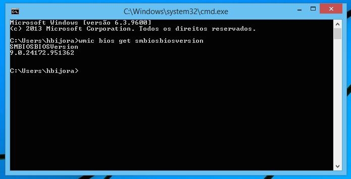 Verificando versão da BIOS do computador (Foto: Reprodução/Helito Bijora)