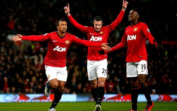 Nani comemora gol do Manchester United contra o Readings (Foto: Reuters)