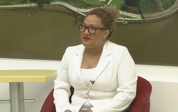 Secretária de políticas públicas para afrodescendentes do Amapá, Núbia Souza (Foto: Bom Dia Amazônia)
