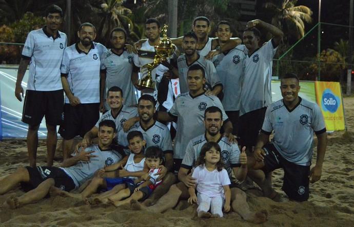 Time do Rio Branco-ES disputa até domingo o Campeonato Brasileiro de futebol de areia (Foto: Divulgação/Arquivo Pessoal)