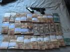 Dinheiro roubado de banco é recuperado (Divulgação/Polícia Militar)