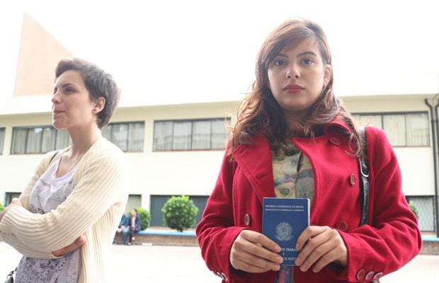 Amigas confundem horário de entrada no Rio Grande do Sul. (Foto: Hygino Vascocellos/G1)