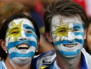 Torcida Uruguai x Espanha (Foto: Reuters)