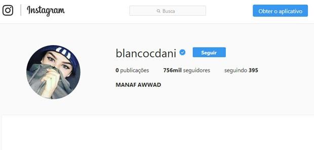 Conta no Instgaram hackeada de Daniel Blanco (Foto: Reprodução)