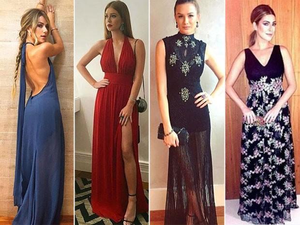 Giovanna Ewbank, Marina Ruy Barbosa, Fiorella Mattheis e Fernanda Paes Leme exibem os looks usados no casamento (Foto: Instagram/ Reprodução)