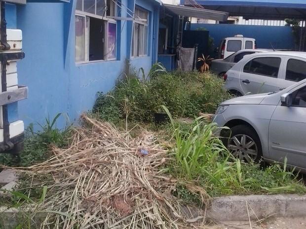 Parte externa de prédio usado pelos agentes, em Vitória (Foto: Divulgação / Sigmates)