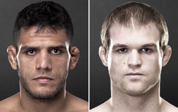 Montagem - MMA - Rafael dos Anjos x Evan Dunham. (Foto: Reprodução/Site Oficial do UFC)