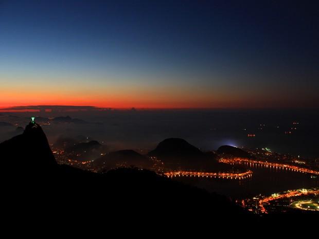 Rio ao amanhecer (Foto: Christiano Ferreira/G1)