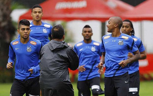 Gabriel e Victor Andrade, treino do Santos (Foto: Ricardo Saibun / Divulgação Santos FC)