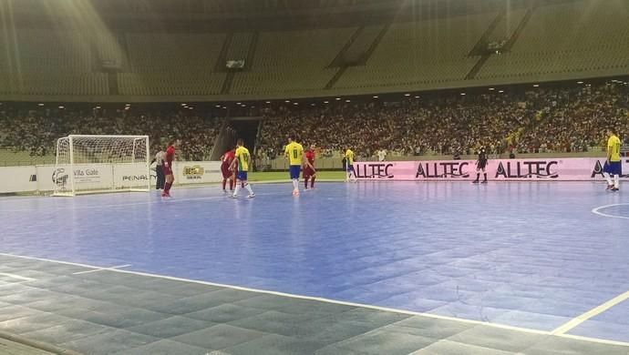 Brasil x Portugal futsal Arena Castelão amistoso (Foto: Juscelino Filho)