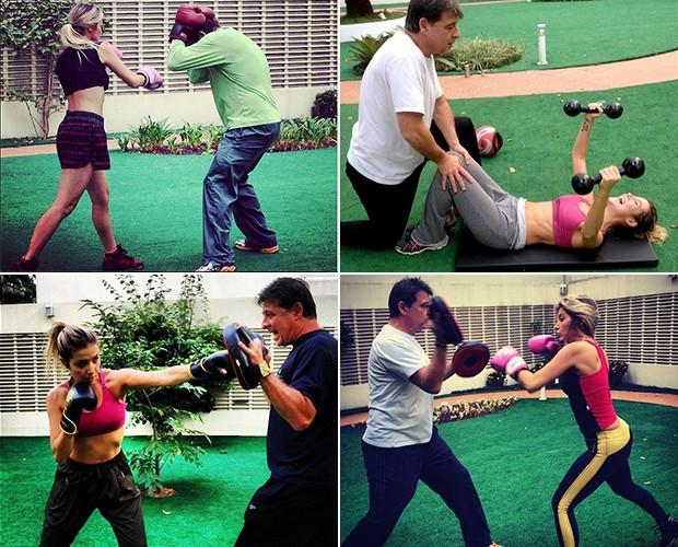 Luiza fazendo exercício (Foto: Arquivo Pessoal)