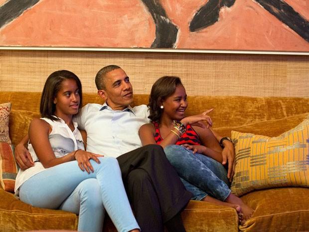 Obama revela seus aposentos na Casa Branca (Foto: reprodução)