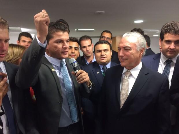 Assis Filho ao lado do presidente Michel Temer (Foto: Divulgação / PMDB)