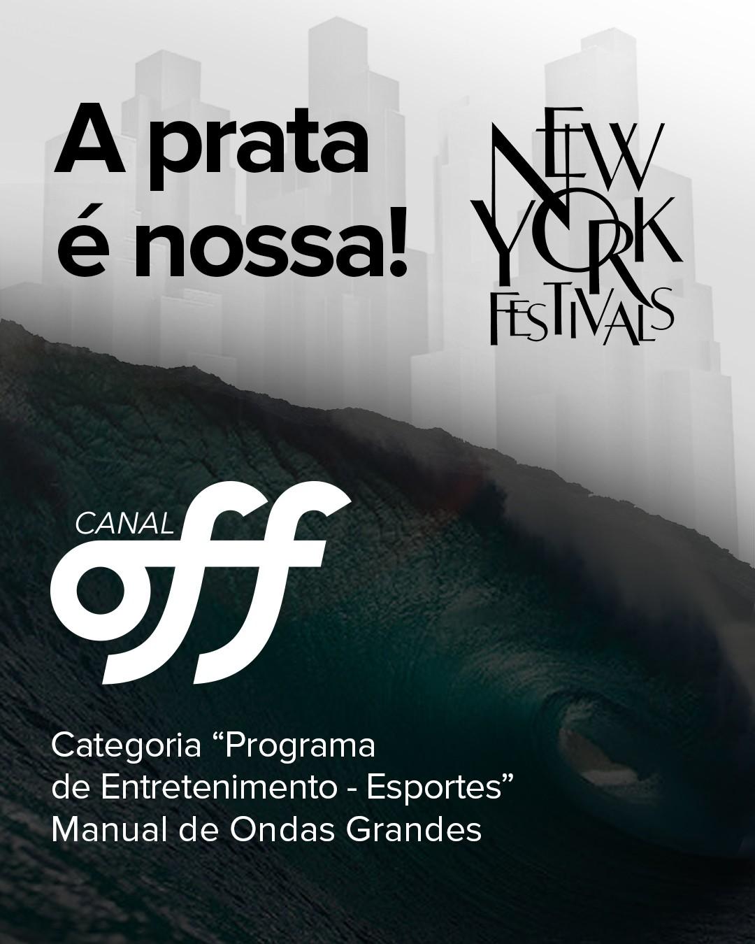 O OFF levou a prata na categoria 'Programa de Entrenimento - Esportes' com 'Manual de Ondas Grandes' (Foto: Divulgao)