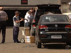 Operação da Polícia Federal em Goiás desarticula quadrilhas de fraudes bancárias e benefícios sociais (Foto: Reprodução/TV Anhanguera)