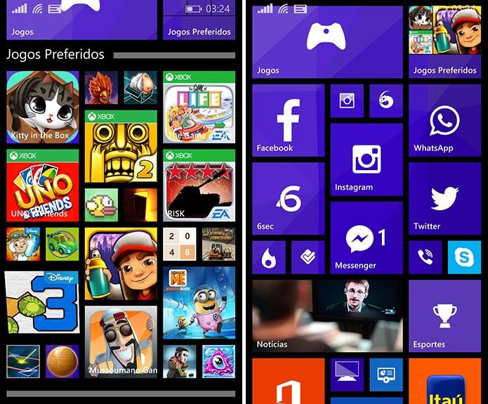 Pastas de Aplicativos do Windows Phone 8.1 GDR 1 podem ser fechadas ou expandidas (Foto: Reprodução/Elson de Souza)