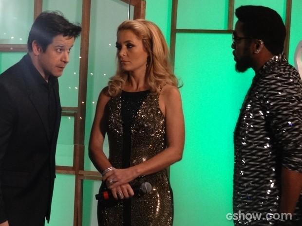 Jonas confronta Brian nos bastidores do programa (Foto: Geração Brasil/TV Globo)