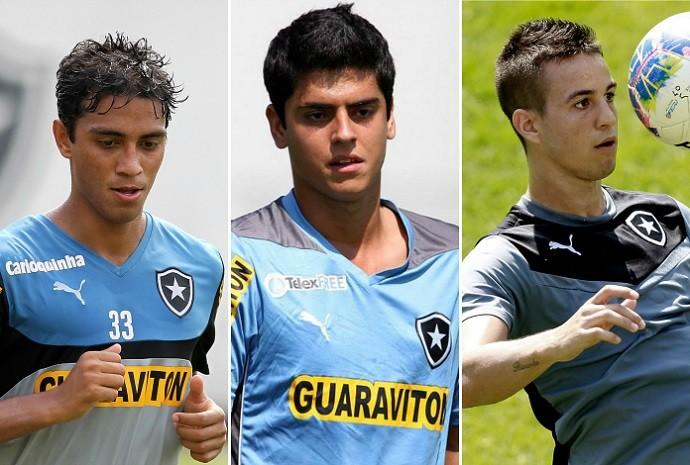 Lucas Zen, Matheus Menezes, Andreazzi, Botafogo (Foto: Arte Esporte)
