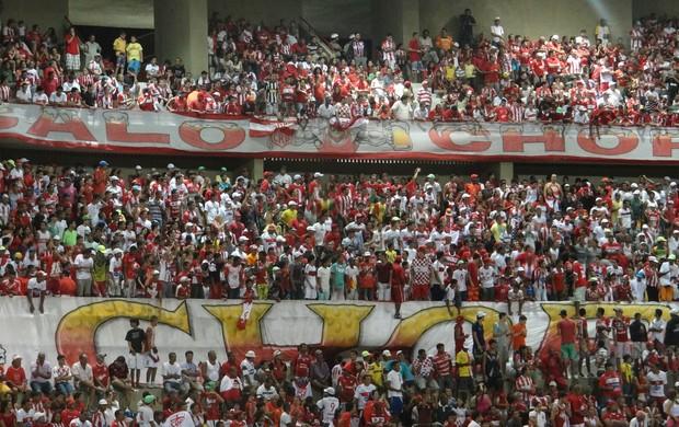 Torcida CRB x Fortaleza (Foto: Viviane Leão/GLOBOESPORTE.COM)