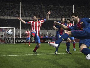 Imagem do novo game 'Fifa 14' da Electronic Arts. (Foto: Gustavo Petró/G1)