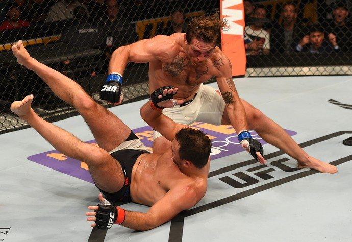 Tom Lawlor e Gian Villante UFC Chicago (Foto: Getty Images)