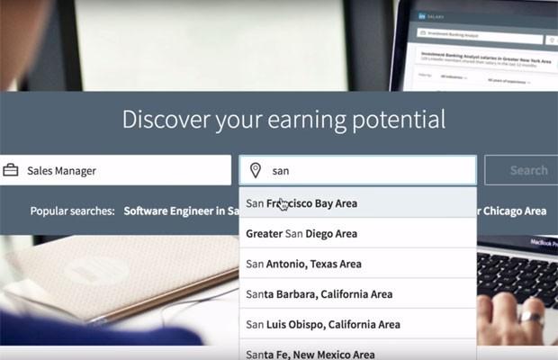Ferramenta de comparação salarial do LinkedIn. (Foto: Reprodução/Linkedin)