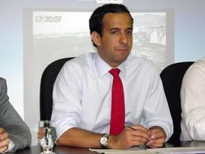 Paulo Alexandre Barbosa, prefeito de Santos. SP (Foto: Ivair Vieira Jr/G1)