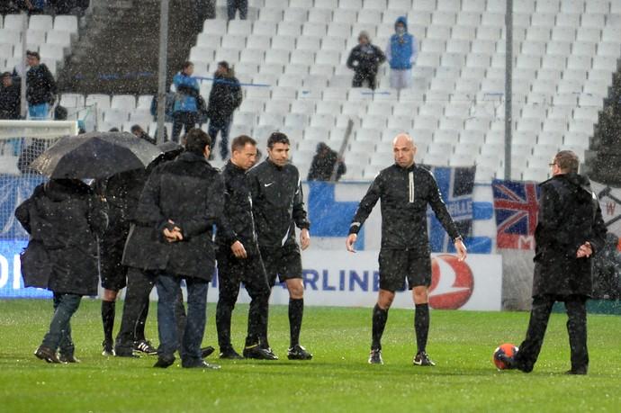 Olympique de Marselha chuva (Foto: AFP)