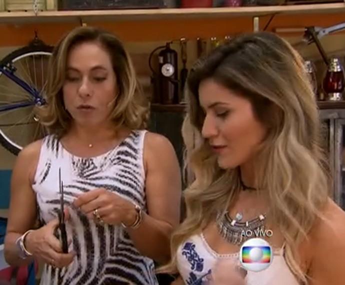 Use uma tesoura ou as mãos para cortar as colherzinhas (Foto: TV Globo)