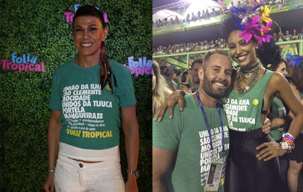 Alicinha Cavalcanti e Leo Marçal, que posa com Sheron Menezzes: os promoters são os responsáveis pelo Folia Tropical (Foto: Divulgação)
