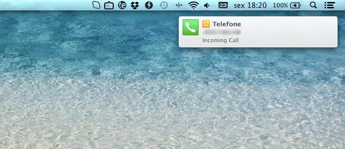 Alerta de ligação no Mac (Foto: Reprodução/Helito Bijora)