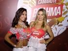 Scheila Carvalho e Sheila Mello curtem camarote em Floripa
