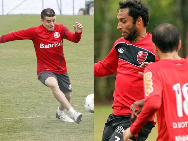 Jogadores treinam para a partida de domingo (Foto: Diego Guichard / GLOBOESPORTE.COM / Maurício Val/VIPCOMM)