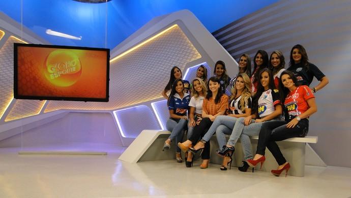 Musas do Mineiro participam ao vivo do Globo Esporte MG (Foto: Mauricio Paulucci)
