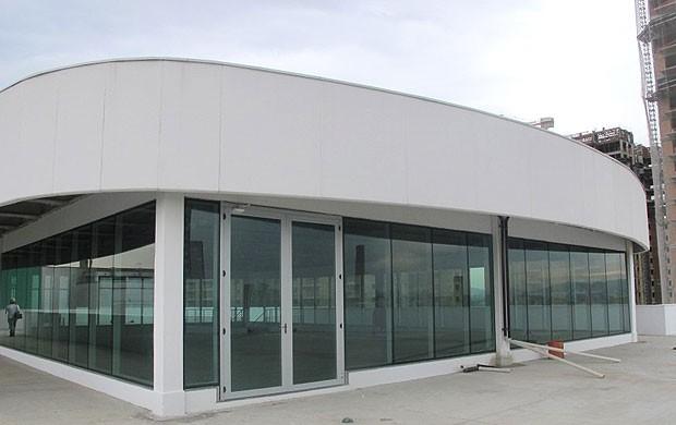 Um dos restaurantes da Arena, que fica no último andar do prédio administrativo, Arena Palestra (Foto: Diego Ribeiro / Globoesporte.com)