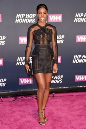 Kelly Rowland em premiação em Nova York, nos Estados Unidos (Foto: Michael Loccisano/ Getty Images/ AFP)