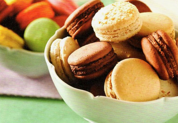 Macaron, uma das opções de sobremesas servidas nos bistrôs do Grupo Le Vin  (Foto: Divulgação)