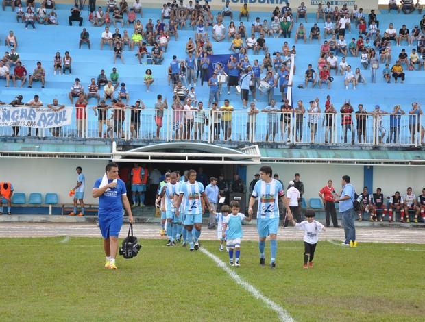 Time Ji-Paraná entrando em campo (Foto: Leandro Nunes/Divulgação)