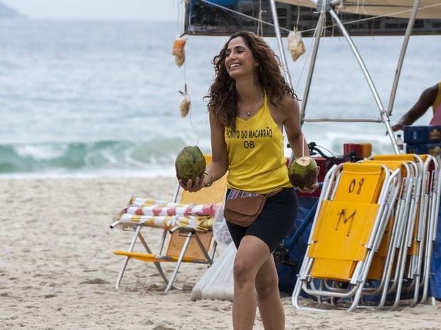 Camila Pitanga grava Babilônia (Foto: Estevam Avellar/ Globo)