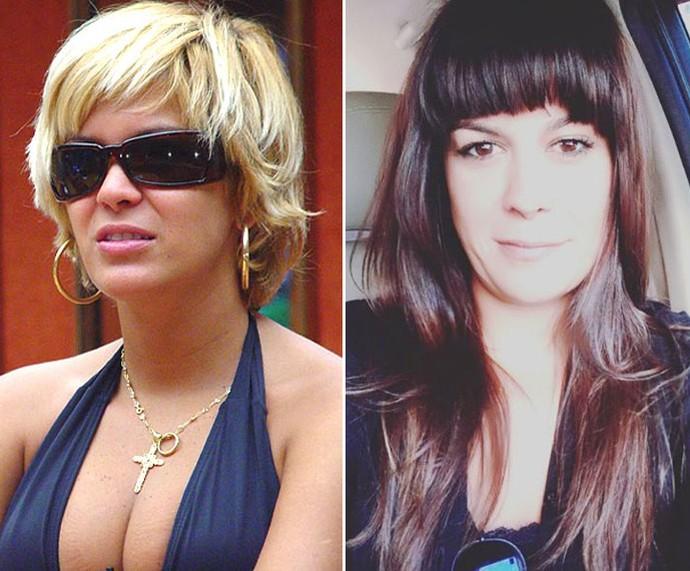 Cris Mota, aos 28 anos, e agora com 41 anos (Foto: Gshow/Arquivo Pessoal)