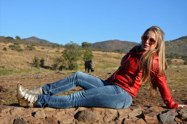 Jéssica Lopes, a Peladona de Congonhas, na África do Sul (Foto: Leonardo Franco  / Divulgação)