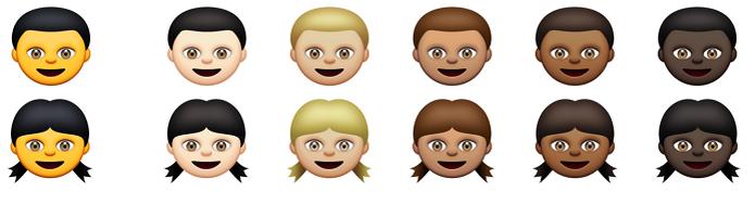 Emoji agora pode ser alterado por cor da pele (Foto: Reprodução/TechCrunch) (Foto: Emoji agora pode ser alterado por cor da pele (Foto: Reprodução/TechCrunch))