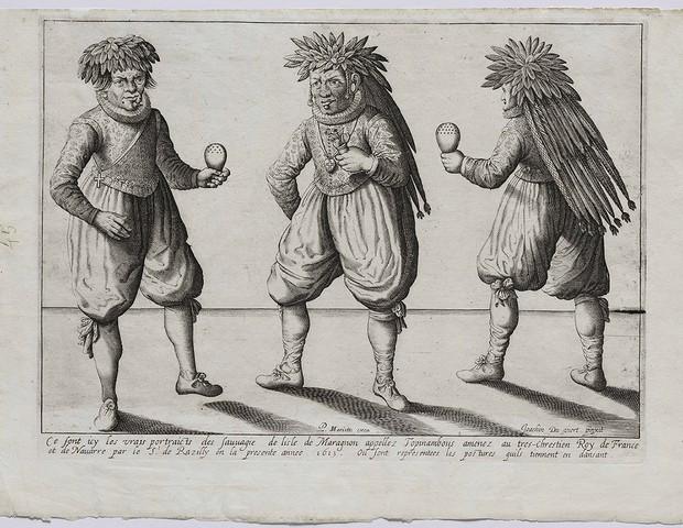 Tupinambás do Maranhão, de Du Viert e Mariette (1613)  (Foto: Edouard Fraipont)