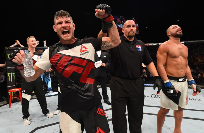Michael Bisping Thales Leites UFC Glasgow (Foto: Getty Images)