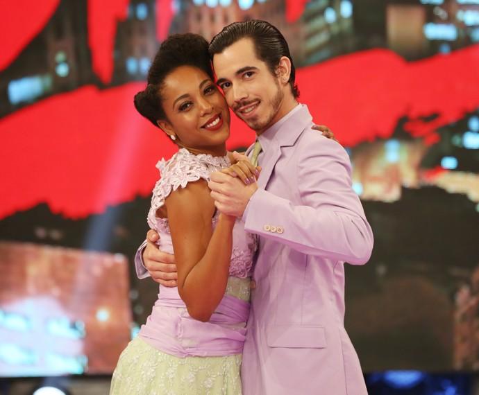Negra Li e Edgar prontos para arrasar no Dança! (Foto: Carol Caminha/Gshow)