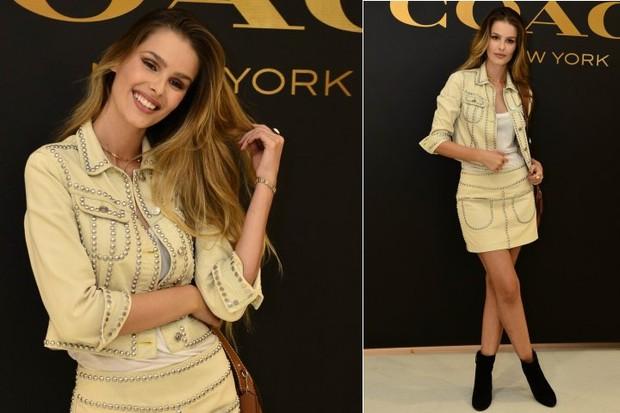 Yasmin Brunet durante evento de moda na Zona Sul do Rio (Foto: Roberto Teixeira/EGO)