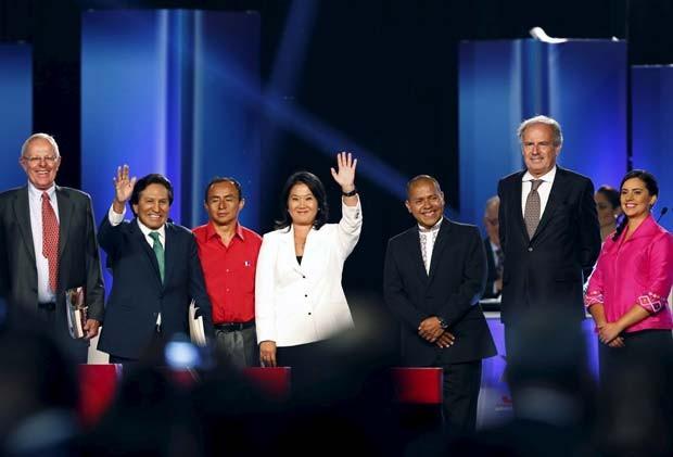 Candidatos presidenciais do Peru participam de debate em Lima (Foto: REUTERS/Mariana Bazo)
